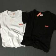 2017 SS新作 SUPREME シュプリーム Small Box Tee ボックスロゴ Tシャツ 半袖 刺繍ロゴ 無地 ブラック ホワイト 人気新品