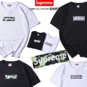 シュプリーム 2017aw SUPREME 半袖Tシャツ カモ柄プリント BOX LOGO ボックスロゴ Tシャツ コットン グレー レッド ブラック ホワイト
