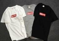 SUPREME シュプリーム 人気 Tシャツ BOX Logo Tee ボックスロゴ コットン 新品 クルーネックブラック グレー ホワイト