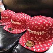 LOUIS VUITTON/SUPREME 通販 安い キャップ シュプリームヴィトンコラボ ロゴ 帽子 モノグラム レッド