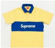 新品新作 SUPREME 偽物 シュプリーム Team Rugby ラガーシャツ BOXロゴ 半袖 ポロシャツ イエロー ブルー