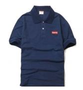 15春夏 SUPREME シュプリーム 格安 ポロシャツ ネイビー ブラック 半袖ポロシャツ ボックスロゴ box logo コットン メンズ