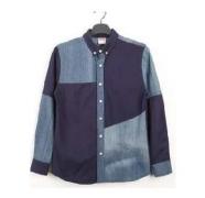 2016-2017年モデル入荷 SUPREME シュプリーム コピー 激安 長袖シャツ メンズ 切り替えデザイン デニムシャツ