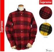 SUPREME シュプリーム Tartan Flannel Shirt タータンチェック 長袖シャツ フランネルシャツ レッド イエロー