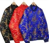総柄 シュプリーム ジャケット コピー SUPREME x エイドリアン・ホー ブラック ブルー レッド3色 ジックアップ 17aw秋冬セール レディースコート.