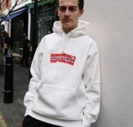 シュプリーム コムデギャルソン SUPREME x Comme des garcons SHIRT Box Logo Hooded Sweatshirt スウェットパーカー ブラック