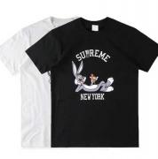 16ss シュプリーム t シャツ コピー SUPREME Rabbit New York Tee  半袖 コットン プリントTシャツ ブラック ホワイトクルーネック