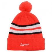 洗練されたシュプリーム2017AWニット帽子SUPREME帽子偽物刺繍ロゴ秋冬新作ニットキャップレッド