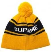 触りのいいシュプリーム帽子 偽物コットンキャップSUPREMEオンラインニット帽秋冬コーデ単品イエロー