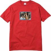 新作 シュプリーム tシャツ SUPREME 半袖 Tシャツ ブラック フォトプリント レッド コットン クルーネック
