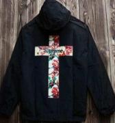最安値高品質なSUPREME 十字架 ブラック ブルー 2色 ナイロン 秋冬 シュプリーム メンズジャケット.