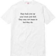 2016aw 新品 新作 シュプリーム SUPREME They Fuck You Up Tee 半袖 プリントTシャツ ホワイト ブラック