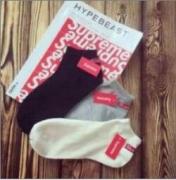 弾力抜群シュプリーム靴下 偽物ボックスロゴSUPREMEオンラインソックスホワイト3色可選