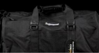 シュプリーム/SUPREME 17AW BOX ロゴ コーデュラ ナイロン ダッフル ボストンバッグ ブラック ランクB 103 80J17.