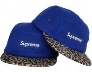 大人気SUPREME帽子偽物ボックスロゴキャップシュプリームオンラインヒョウ柄ツアウトドアスポーツブルー