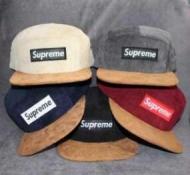 上質シュプリームオンラインコール天キャップスエードツバSUPREME BOX LOGO 偽物帽子ワインレッド多色可選