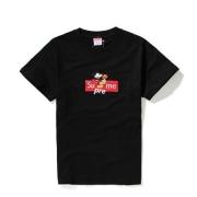 シュプリーム シャツ 値段 SUPREME ロゴ メンズ 半袖Tシャツ 黒 白 2色 ネズミ画像 カジュアル 春夏服.