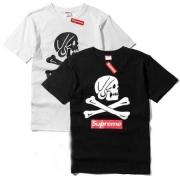 シュプリーム 偽物 半袖Tシャツ メンズ SUPREME 白 黒 2色 髑髏 カジュアル服 2018春夏季超人気.