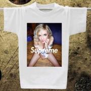 セクシーSUPREMETシャツサイズ感プリントTシャツシュプリームコピー品半袖Tシャツホワイト