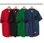 SUPREME 半袖 シュプリーム tシャツ 安い ボダン コットン生地 ストリート 男女兼用 黒、赤、グリーン、ブルー.