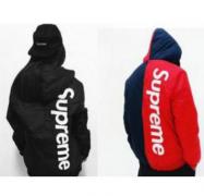SUPREME 2 Tone Hooded Sideline Jacket シュプリーム サイドライン ジャケット ブラック、赤、グリーン.