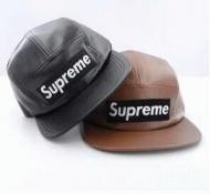 大人気 シュプリーム ボックスロゴ 偽物刺繍ロゴレザーキャップSUPREME17FW本革帽子アウトドア2色可選
