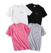 2018 SUPREME シュプリーム 偽物 Tシャツ 半袖 ホワイト、ピンク、グレー、ブラック4色選択 男女兼用.