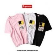 シュプリーム Tシャツ コピー SUPREME 男女兼用 ブラック、ホワイト、ピンク3色選択 コットン生地 ショートスリーブ.