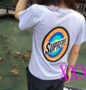 SUPREME プリント Tシャツ シュプリーム 半袖 男女兼用 ホワイト、ブラック、グレー、ダークブルー4色可選.