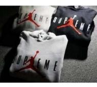 SUPREME×NIKE Jordan Hooded Sweatshirt シュプリーム×ナイキ パーカー ホワイト、ブラック、グレー.