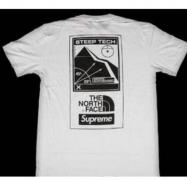SUPREME シュプリーム ×THE NORTH FACE 18SS Steep Tech T-Shirt Tシャツ メンズ 半袖 ホワイト コットン.