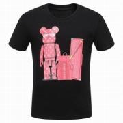 大ヒットSUPREME LOUIS VUITTON Tシャツ サイズ感 シュプリームルイヴィトンコラボ半袖丸首プリントTシャツ2色可選