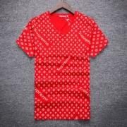 大ヒット シュプリームルイヴィトン コラボ vネック半袖Tシャツタイトーシェルト SUPREME LV モノグラム柄 3色可選