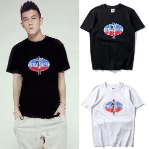 定番人気アイテム シュプリーム通販激安 半袖Tシャツ SUPREME 丸首ユニセックスEDISON CHEN オススメ 2色可選