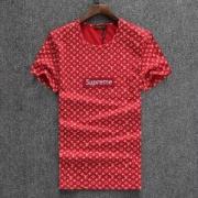 18夏季 高級感 半袖Tシャツ SUPREME x Louis Vuitton モノグラム総柄 SUPREME BOX LOGO刺繍 クールネック 3色可選