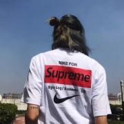 Supreme×NIKE デザイン シュプリーム Tシャツ NIKE ロゴ プリント ブランド カップル オリジナル メンズ レディース