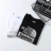 おしゃれシュプリームノースフェイスtシャツクラシックロゴスタリート半袖tシャツ