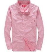 SUPREME シュプリーム 14SS Dots Shirt ドットシャツ ブラック 長袖シャツ ピンク ネイビー コットン 春夏