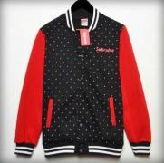 SUPREME パーカー ボックスロゴ 数量限定安いシュプリーム 通販 黒 赤 丸プリント ボタン式 ジックアップ 秋冬 男女 コート.