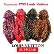 Louis Vuitton/Supreme Box Logo ヴィトン シュプリーム スーパーコピー レッド ブラック ブラウン 17SS 人気 パーカー