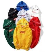 SUPREME Champion シュプリーム x チャンピオン コラボ Box Logo パーカー スウェットパーカー ブラック ホワイト 7色