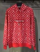 17SS ヴィトン シュプリーム コピー LOUIS VUITTON /SUPREME Box Logo Hooded Sweatshirt ボックスロゴ パーカー レッド