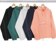 新品 SUPREME シュプリーム Contrast Stitch Twill Pullover ジャケット ブラック ホワイト 2016AW 多色 プールオーバ