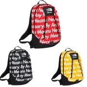 ザノースフェイス x シュプリーム 偽物 「SUPREME THE NORTH FACE バックパック」黒 黄色い レッド 3色 男女兼用 リュックバッグ.