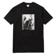 シュプリーム Tシャツ SUPREME 14AW KRS One Tee フォトプリントTシャツ ブラック 特価大人気 コットン