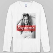 シュプリーム 長袖tシャツ SUPREME Box Logo ボックスロゴ ホワイト ブラック プリントTシャツ コットン