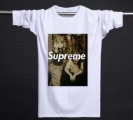 SUPREME 激安シュプリーム通販 プリント 16ss Tシャツ クルーネック コットン ブラック ホワイト 長袖tシャツ