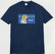 人気定番 classic Supreme tシャツ シュプリーム Bread Alone Tee 半袖Tシャツ ネイビー コットン プリント 15ss
