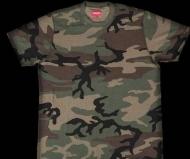 HOT新作登場 SUPREME シュプリーム tシャツ 半袖 Woodland Camo 迷彩 カモ クルーネック コットン 刺繍ロゴ入り
