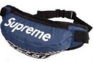 大特価 高級品 通販 シュプリーム バッグ メンズ SUPREME ロゴ 17AW ブルー ヒップバッグ.